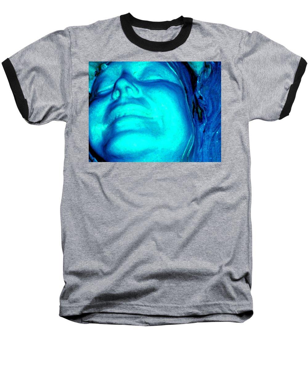 Blue Baseball T-Shirt featuring the photograph Blue Goddess by Wayne Potrafka