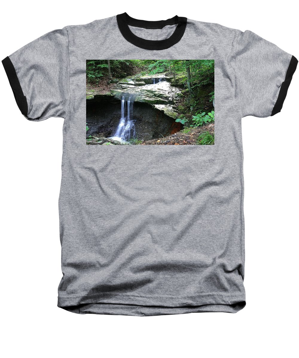 Waterfall. Water Baseball T-Shirt featuring the photograph Blue Hen Falls by Nelson Strong