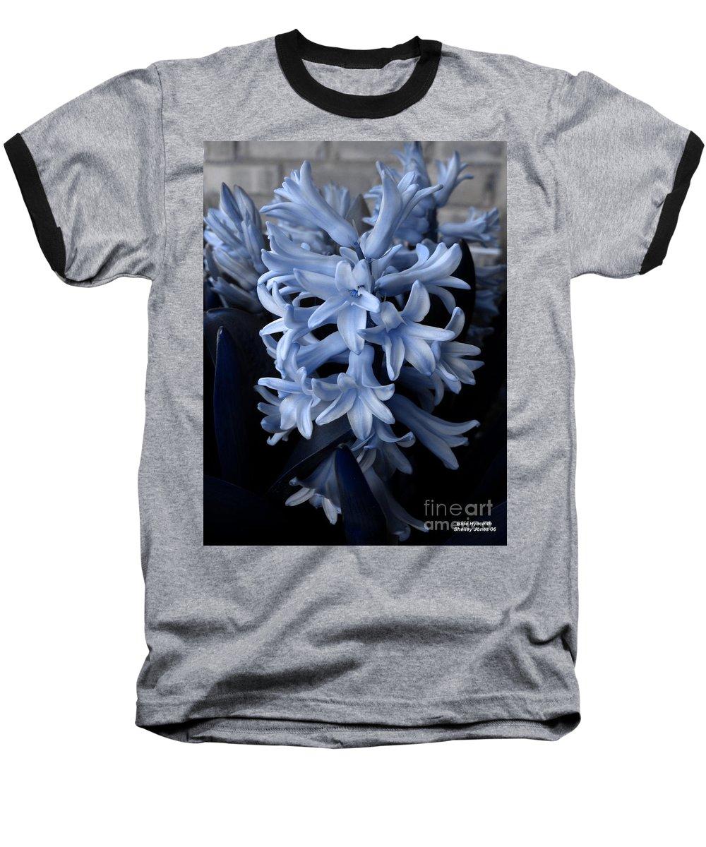 Blue Baseball T-Shirt featuring the photograph Blue Hyacinth by Shelley Jones