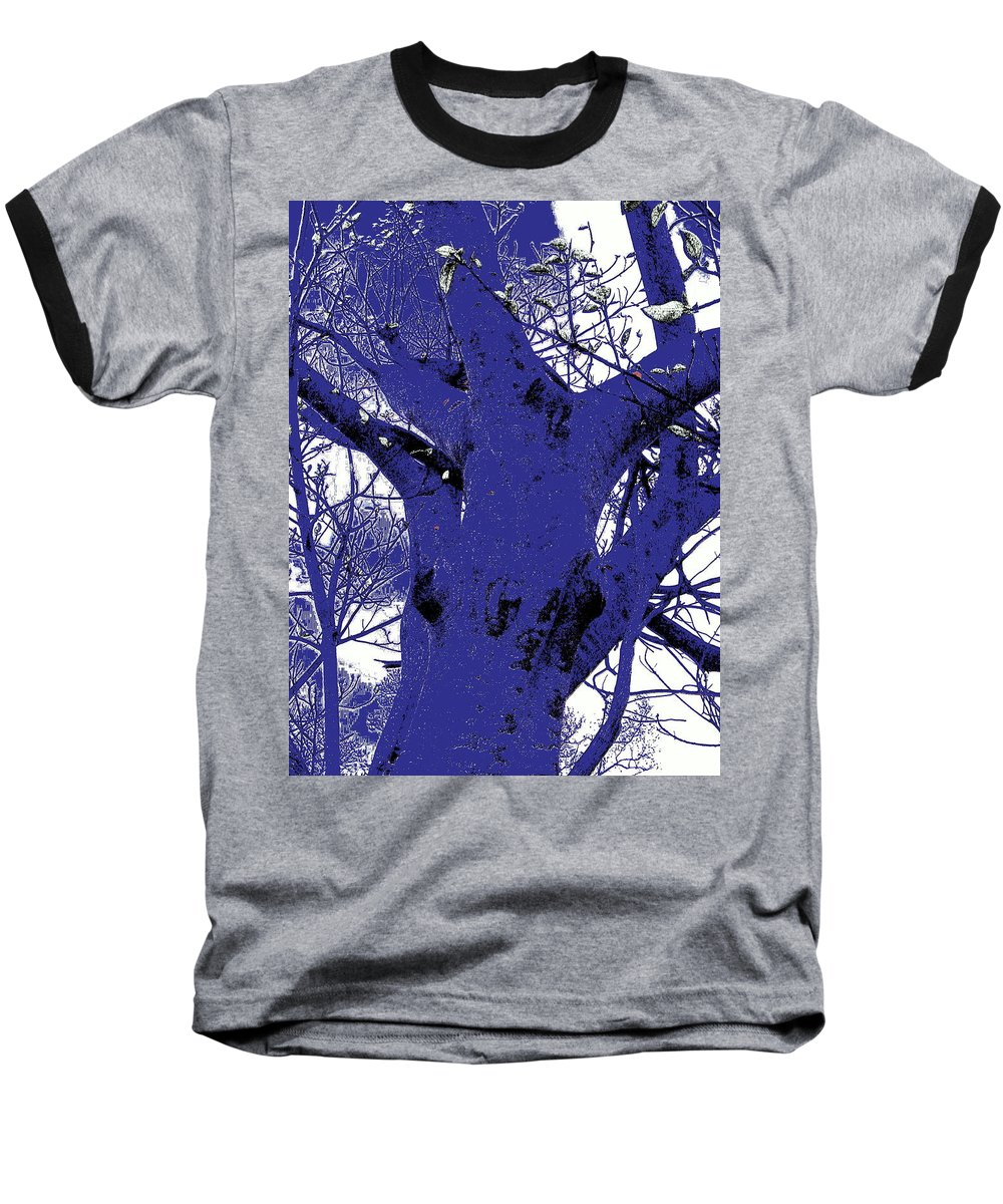 Landscape Baseball T-Shirt featuring the photograph Blue Ice by Ed Smith