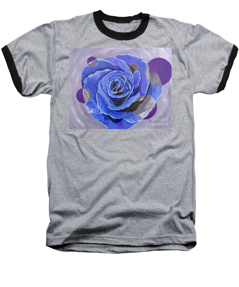 Acrylic Baseball T-Shirt featuring the painting Blue Ice by Herschel Fall