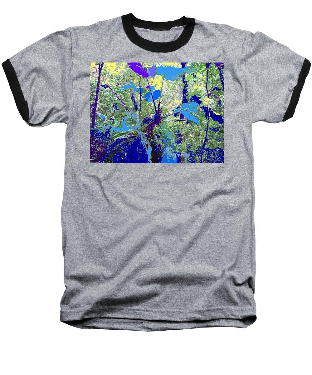 Baseball T-Shirt featuring the photograph Blue Jungle by Ian MacDonald