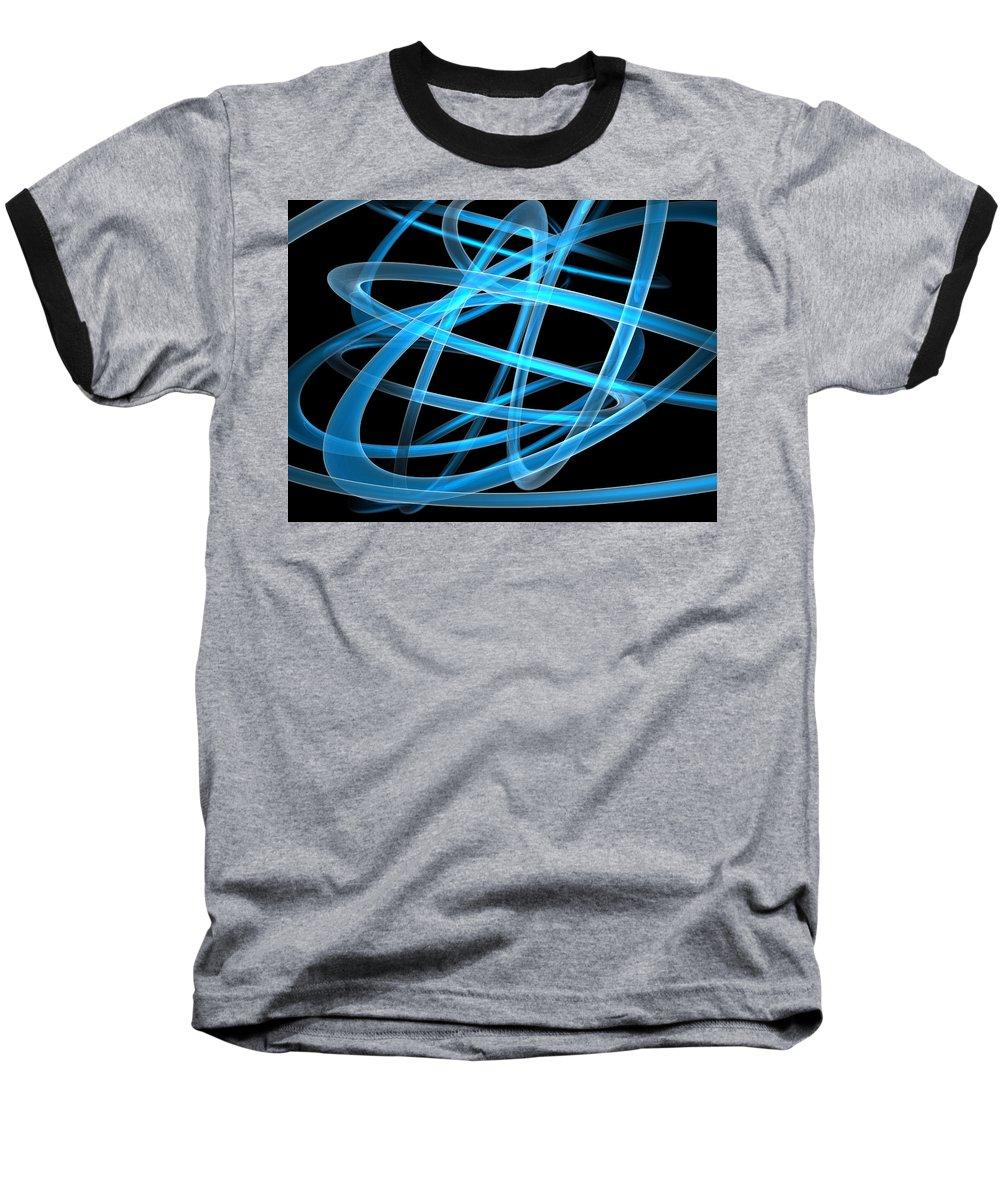 Scott Piers Baseball T-Shirt featuring the painting Blue Light by Scott Piers