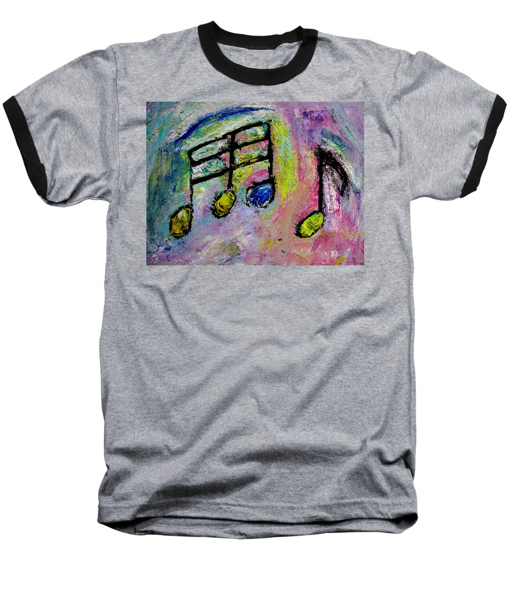 Impressionist Baseball T-Shirt featuring the painting Blue Note by Anita Burgermeister
