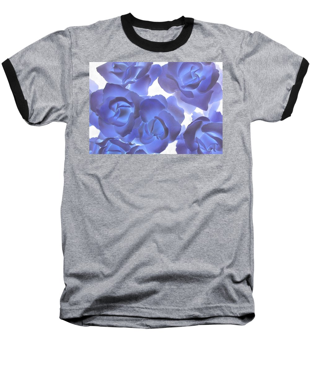 Blue Baseball T-Shirt featuring the photograph Blue Roses by Tom Reynen