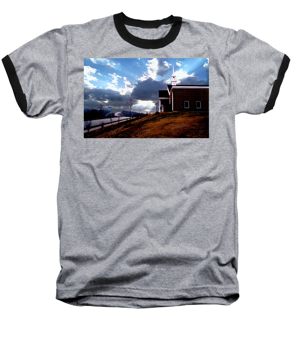 Landscape Baseball T-Shirt featuring the photograph Blue Springs Landscape by Steve Karol