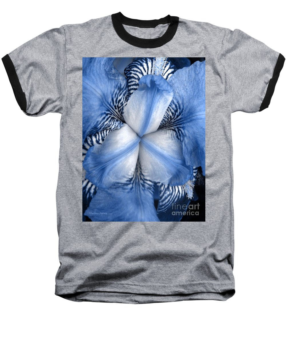 Jphotography Baseball T-Shirt featuring the photograph Blue Tiger Iris by Shelley Jones