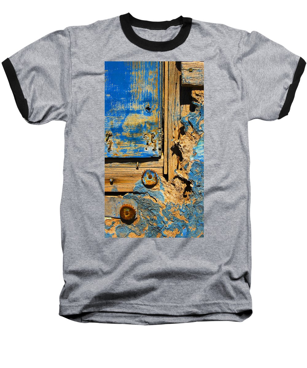 Abstract Baseball T-Shirt featuring the photograph Blues Dues by Skip Hunt