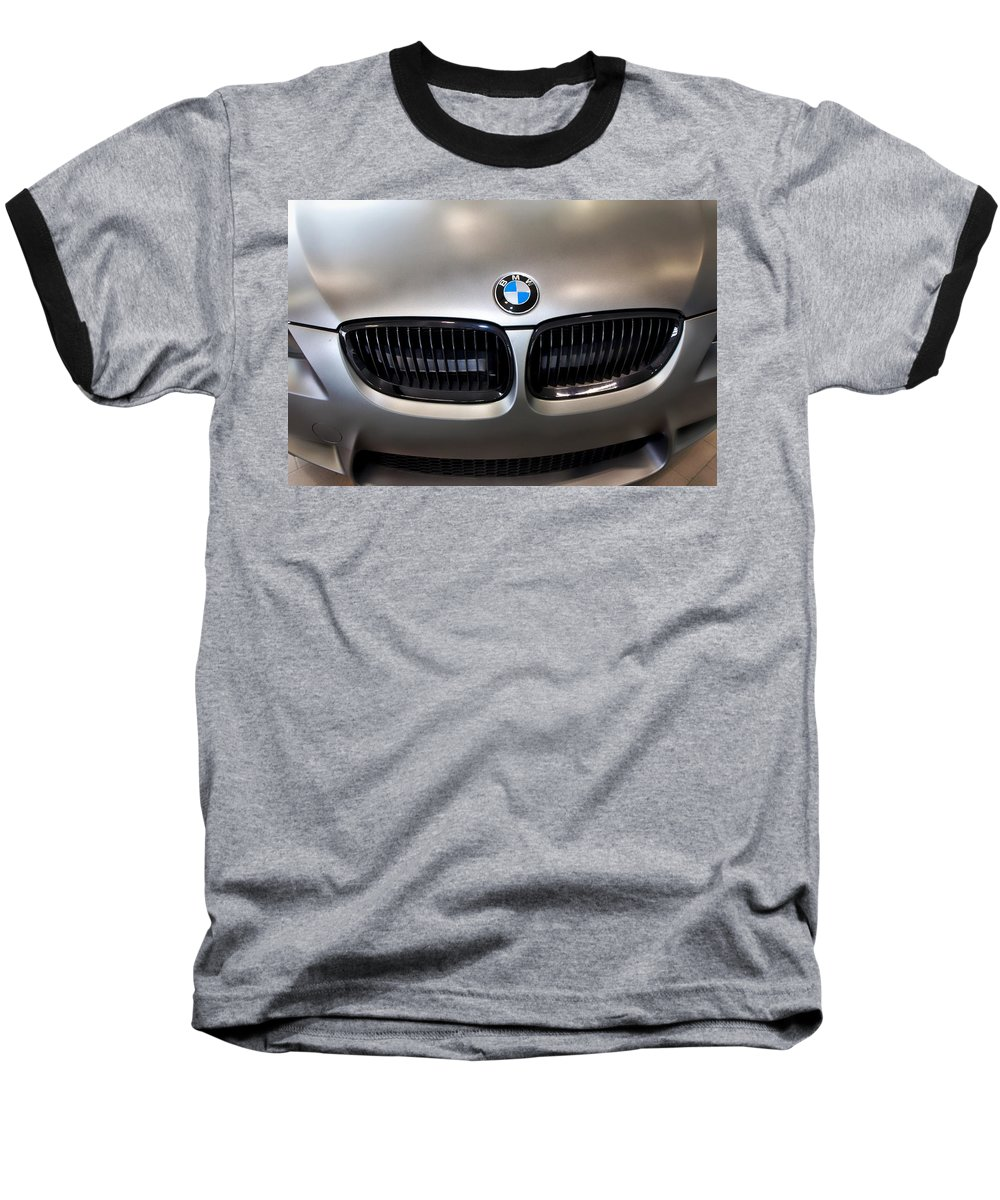 Bmw M3 Baseball T-Shirt featuring the photograph Bmw M3 Hood by Aaron Berg