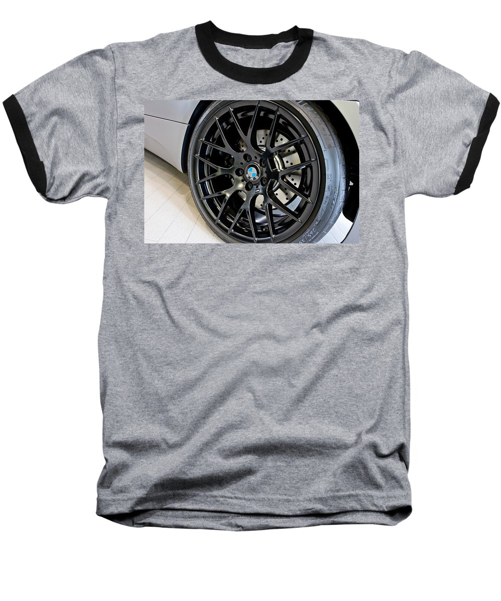 Bmw M3 Baseball T-Shirt featuring the photograph Bmw M3 Wheel by Aaron Berg