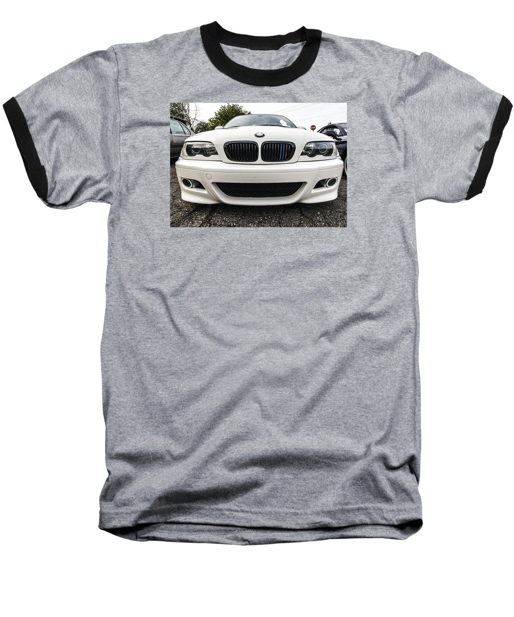 Bmw Baseball T-Shirt featuring the photograph BMW by Tyler Adams