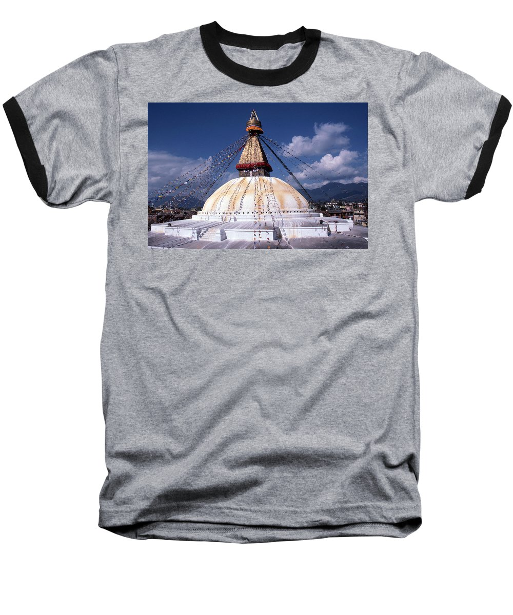Bodhnath Stupa Baseball T-Shirt featuring the photograph Bodhnath Stupa by Patrick Klauss