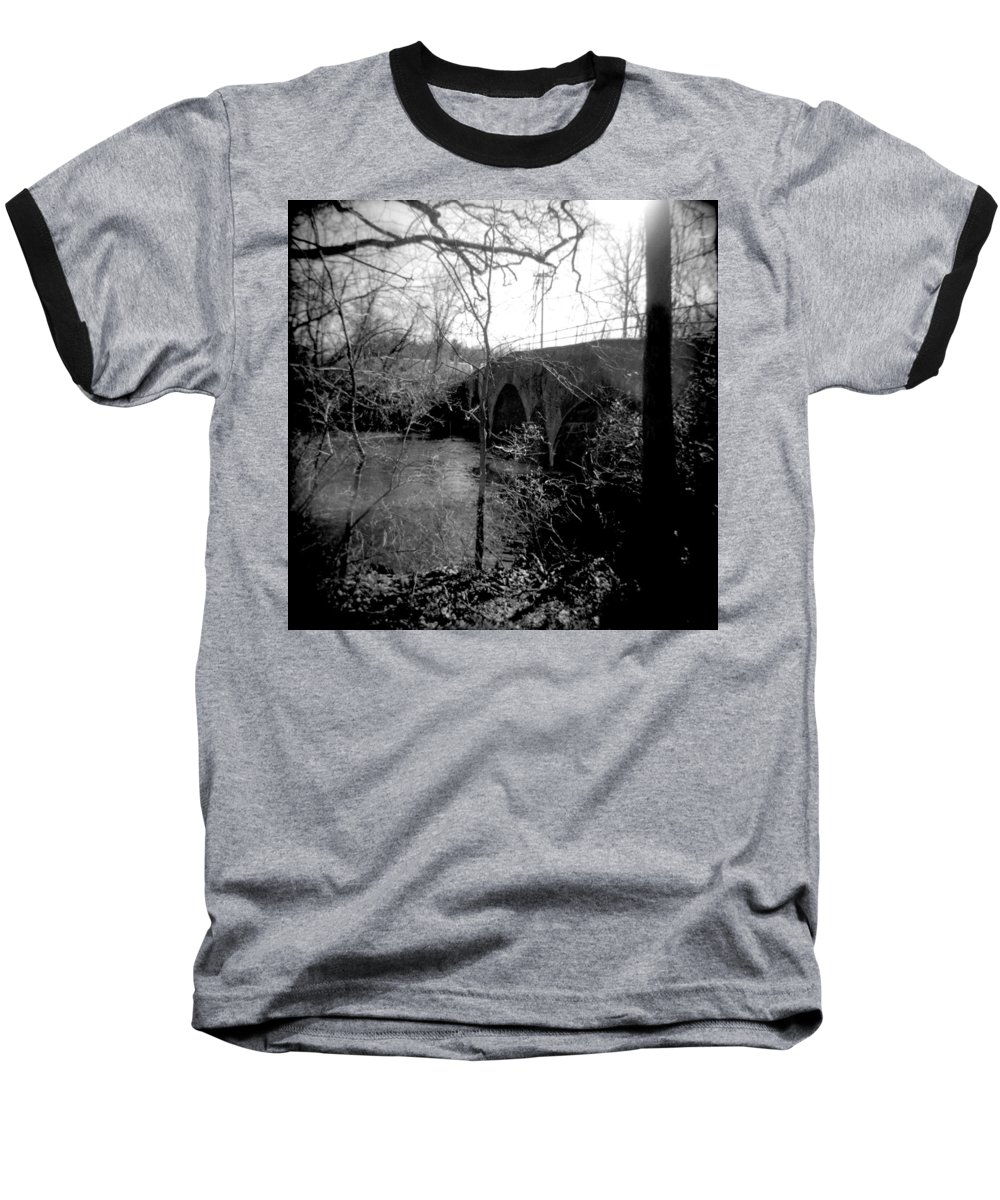 Photograph Baseball T-Shirt featuring the photograph Boiling Springs Bridge by Jean Macaluso