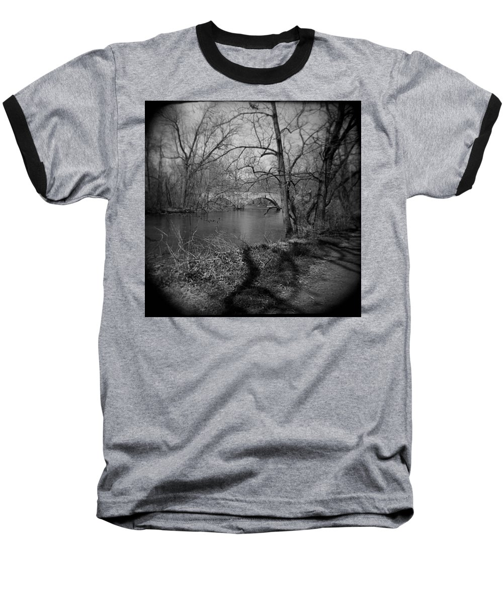 Photograph Baseball T-Shirt featuring the photograph Boiling Springs Stone Bridge by Jean Macaluso