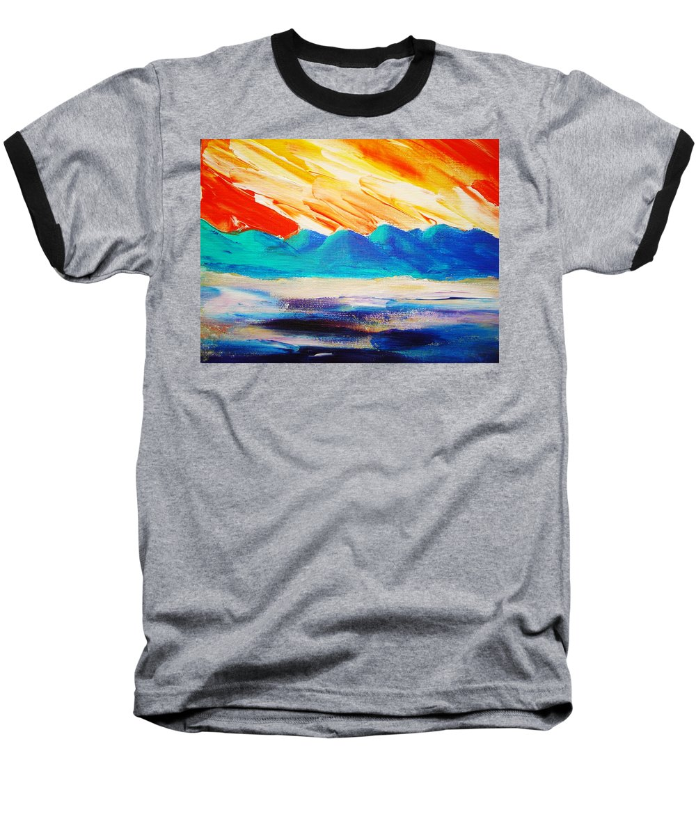 Bright Baseball T-Shirt featuring the painting Bold Day by Melinda Etzold