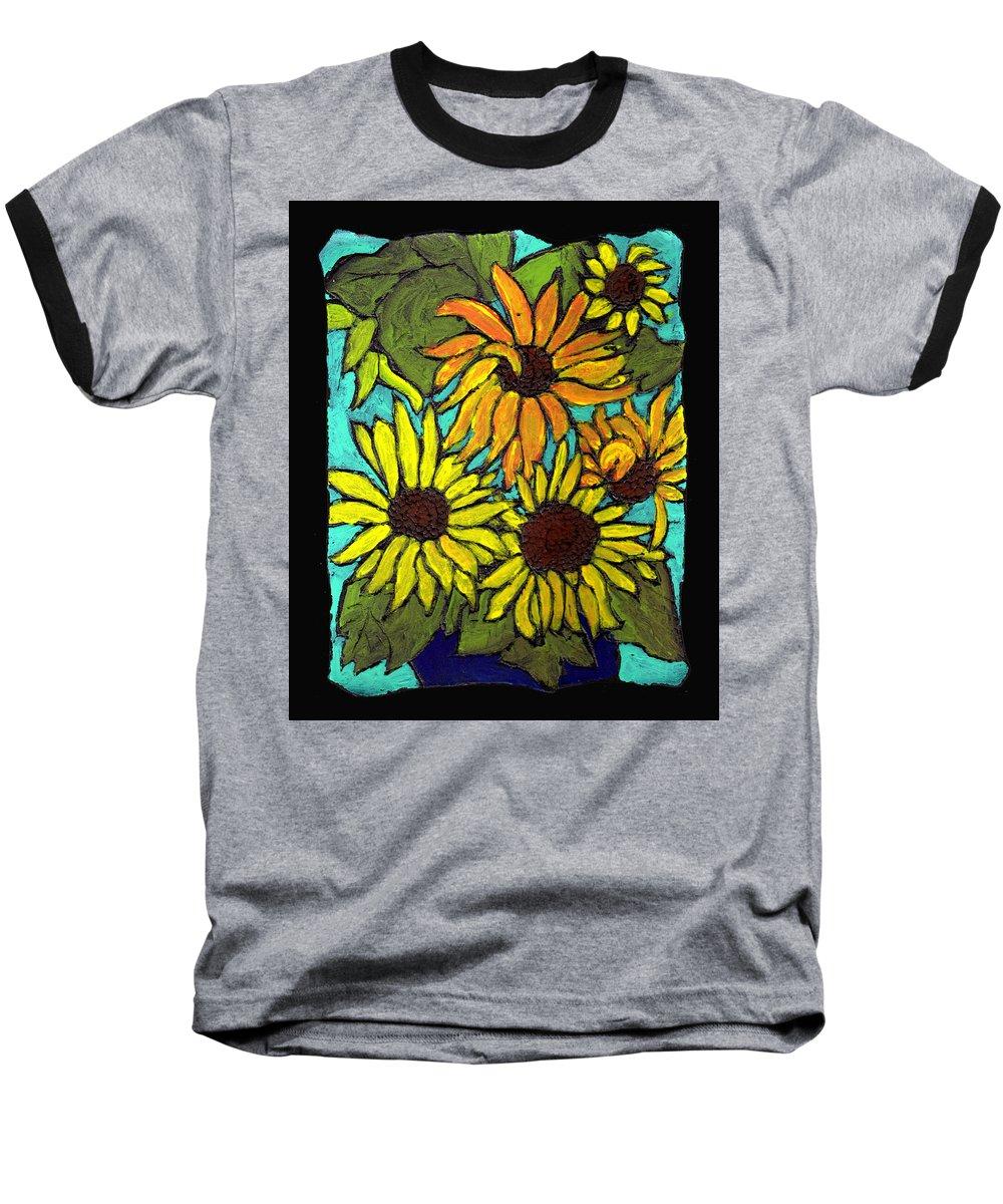 Flowers Baseball T-Shirt featuring the painting Boquet Of Sunshine by Wayne Potrafka
