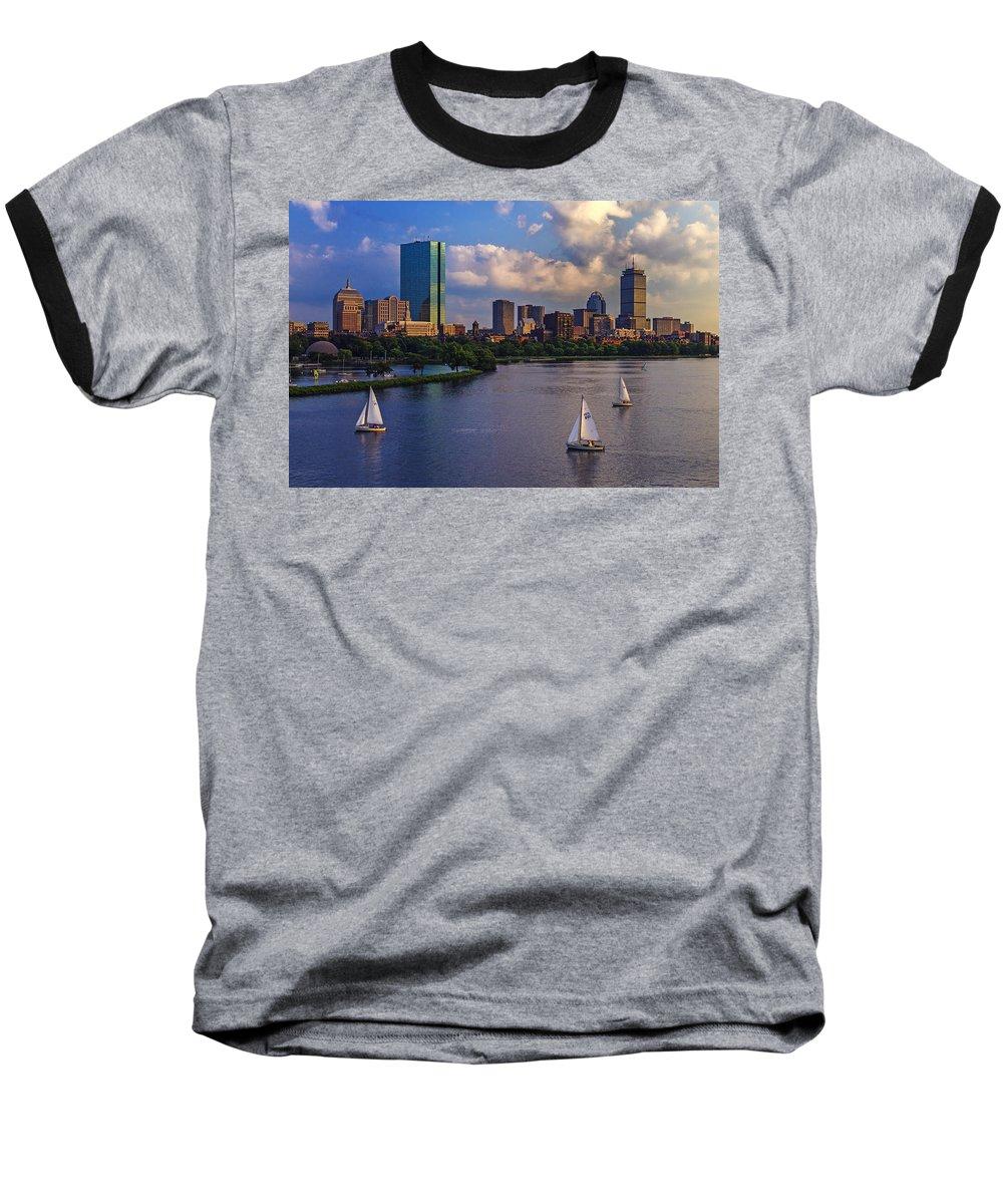 Hancock Building Baseball T-Shirts
