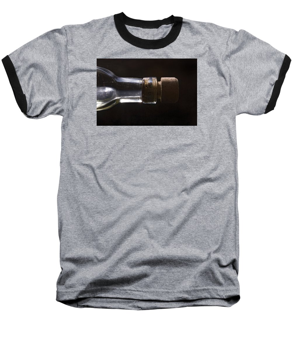 Cork Baseball T-Shirt featuring the photograph Bottle And Cork-1 by Steve Somerville