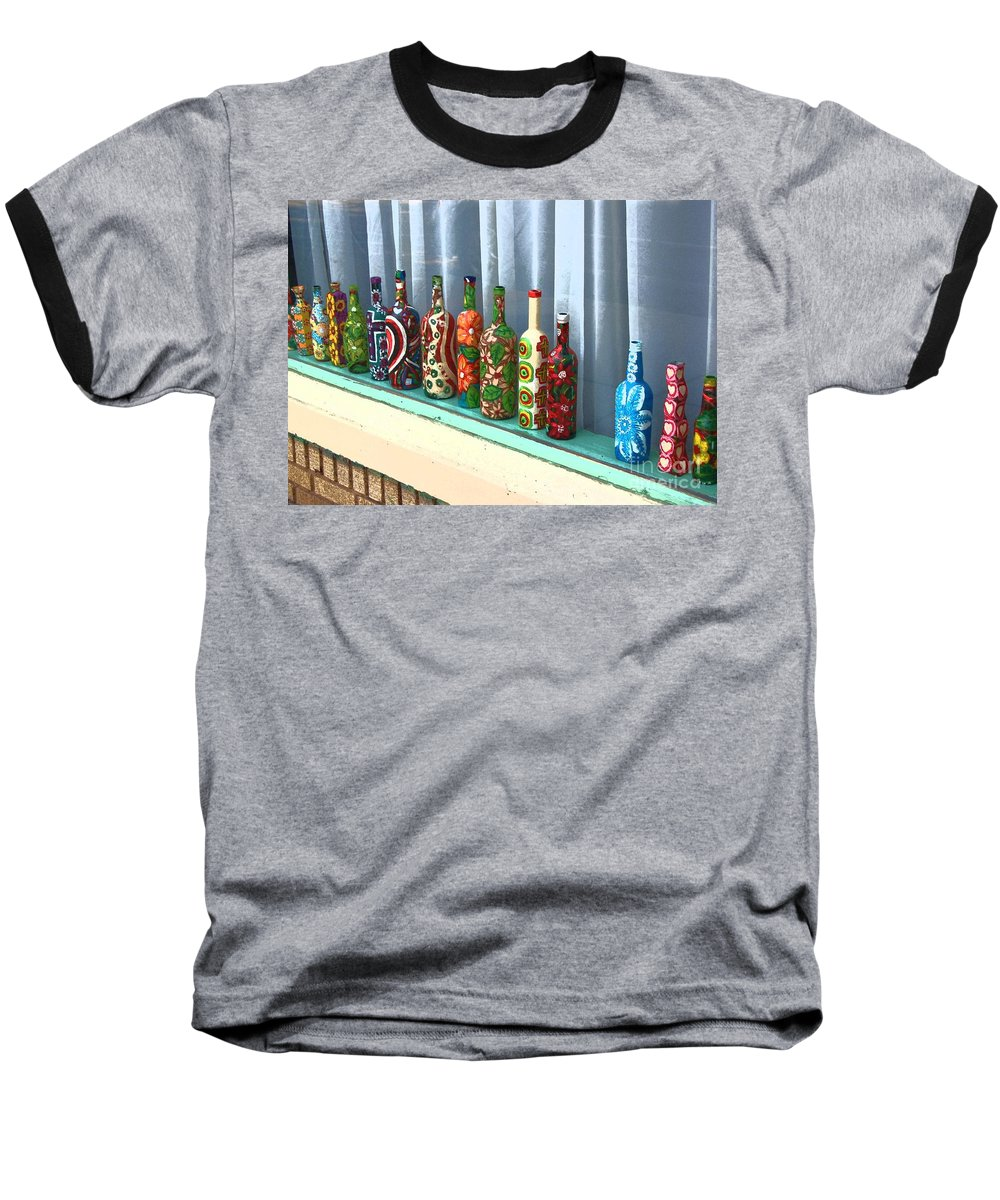 Bottles Baseball T-Shirt featuring the photograph Bottled Up by Debbi Granruth