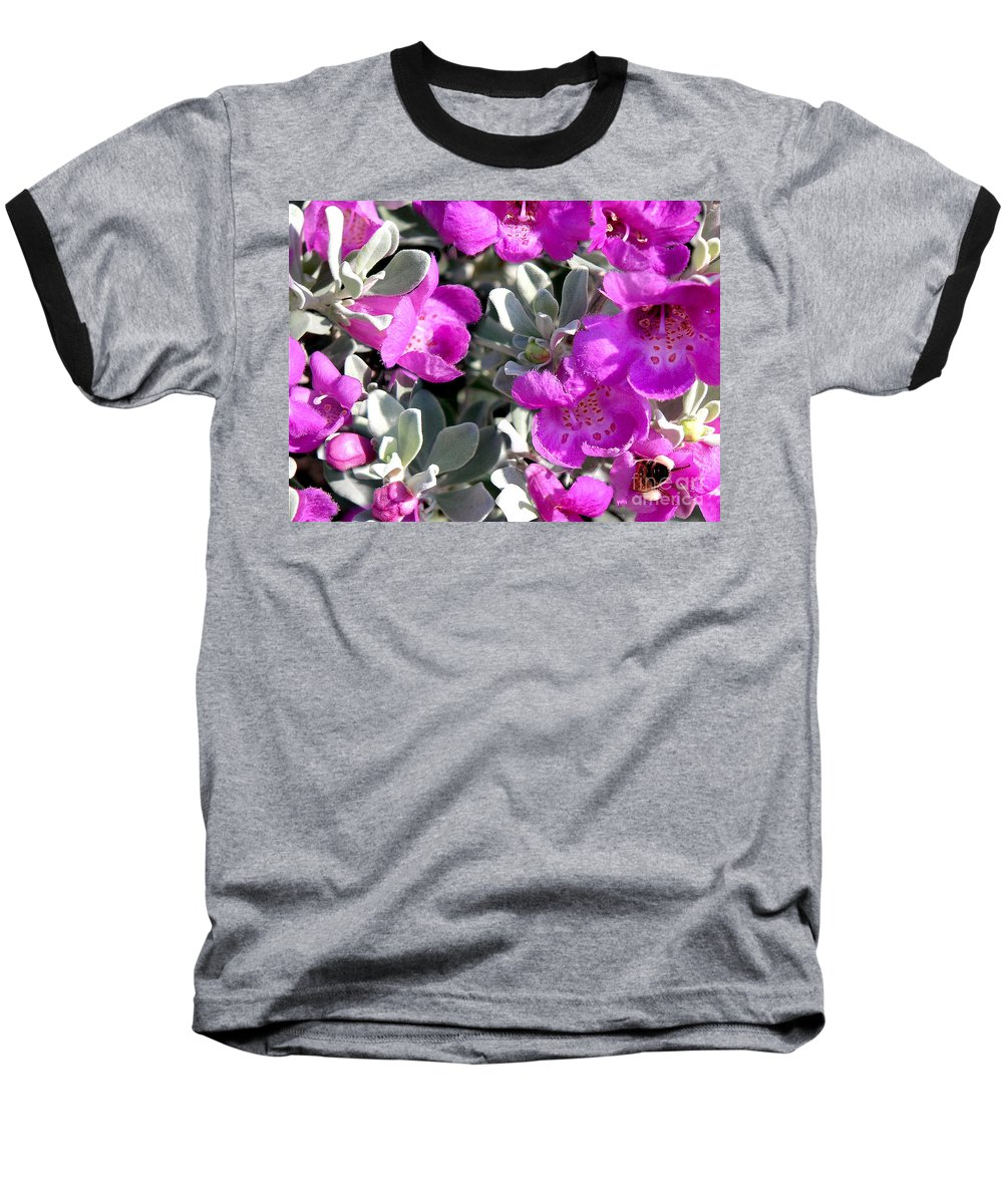 Nature Baseball T-Shirt featuring the photograph Bottoms Up by Lucyna A M Green
