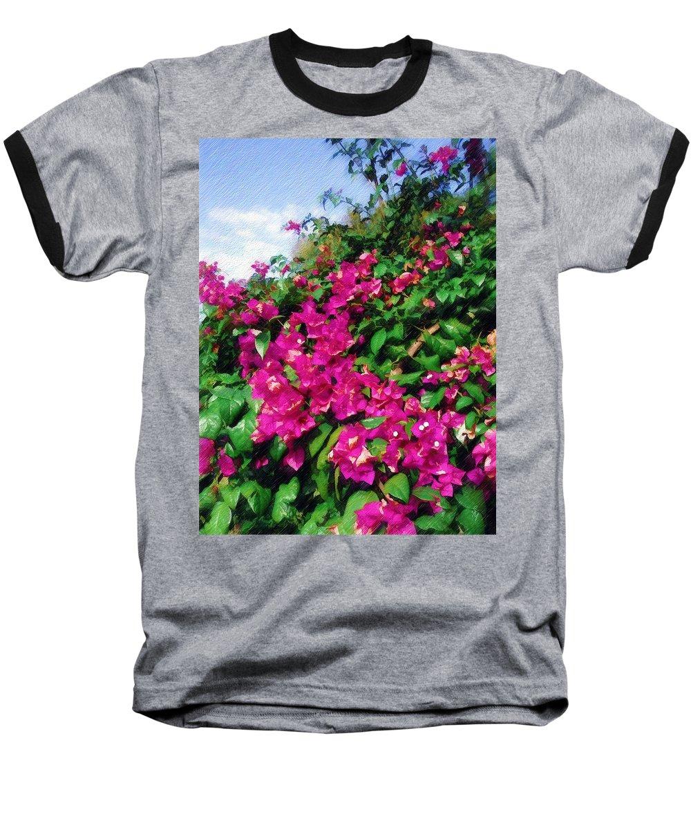 Bougainvillea Baseball T-Shirt featuring the photograph Bougainvillea by Sandy MacGowan