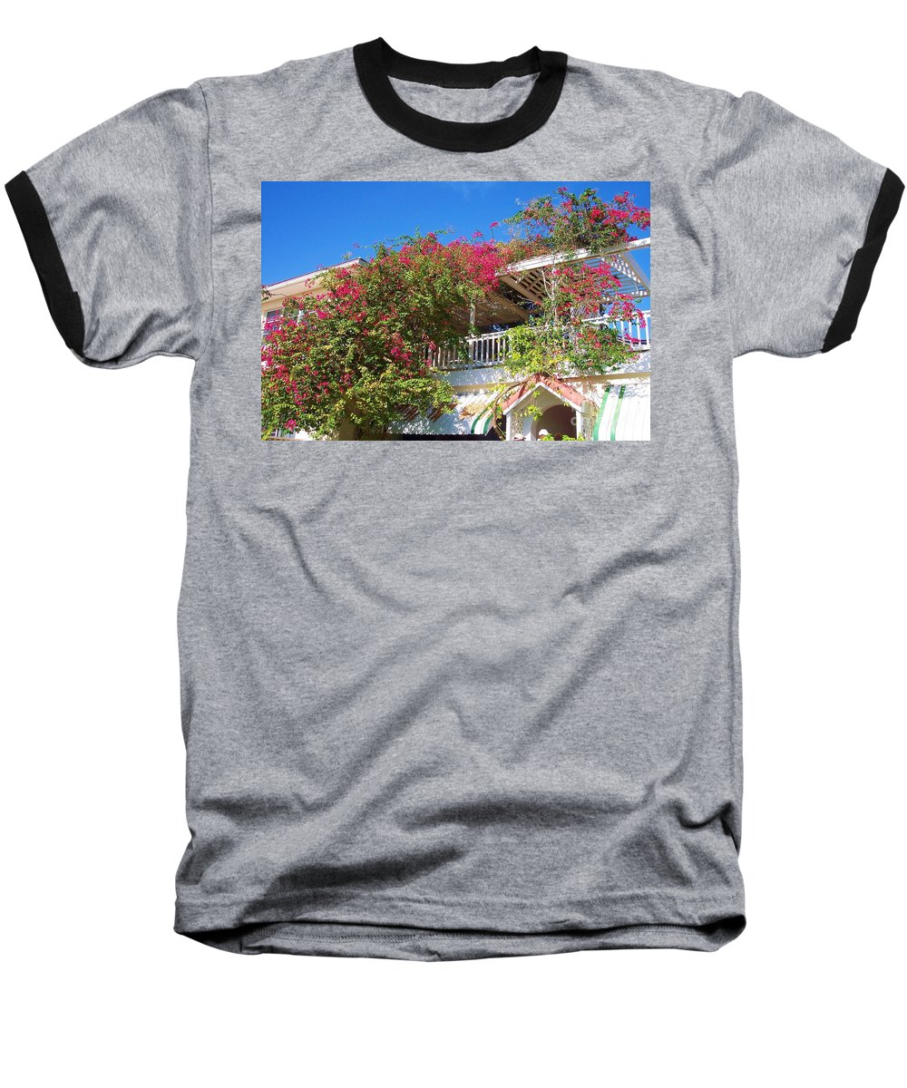 Flowers Baseball T-Shirt featuring the photograph Bougainvillea Villa by Debbi Granruth
