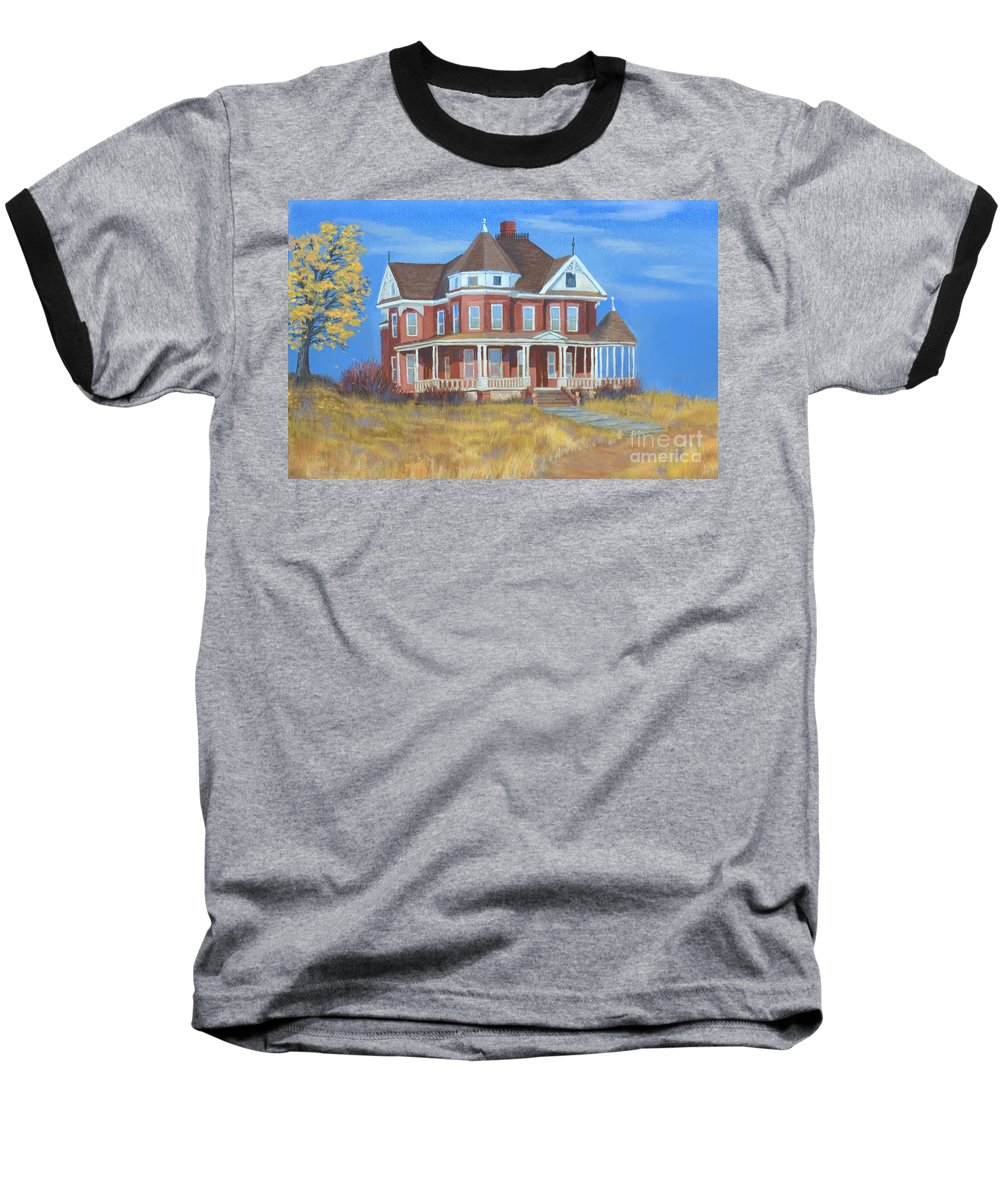 Boulder Baseball T-Shirt featuring the painting Boulder Victorian by Jerry McElroy