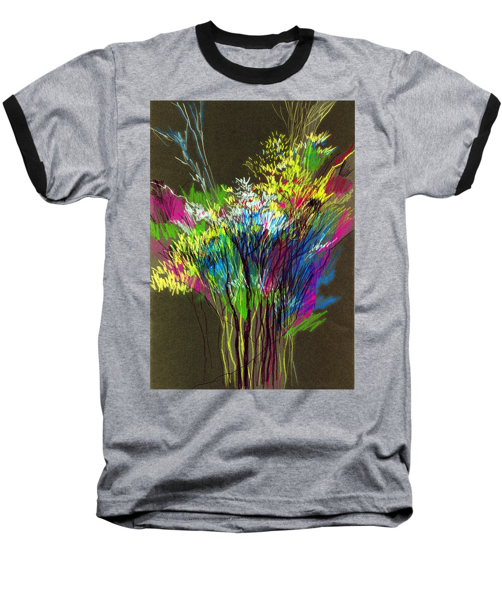 Flowers Baseball T-Shirt featuring the painting Bouquet by Anil Nene