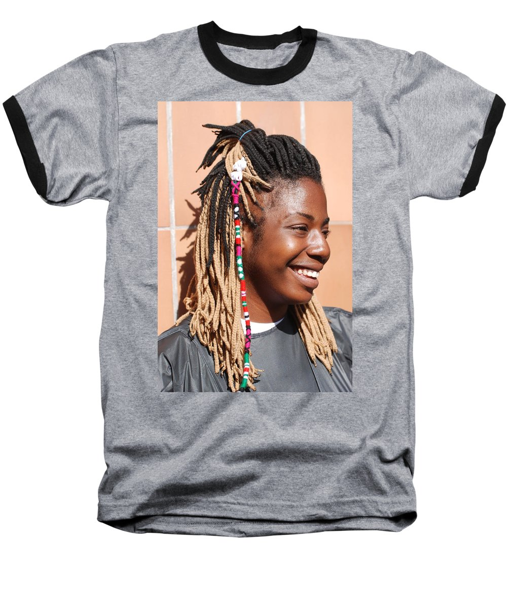 People Baseball T-Shirt featuring the photograph Braided Lady by Rob Hans
