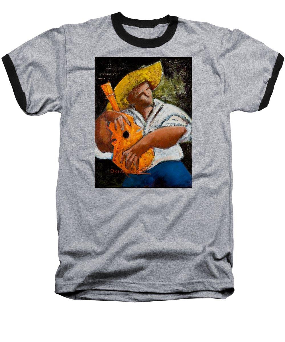 Puerto Rico Baseball T-Shirt featuring the painting Bravado Alla Prima by Oscar Ortiz