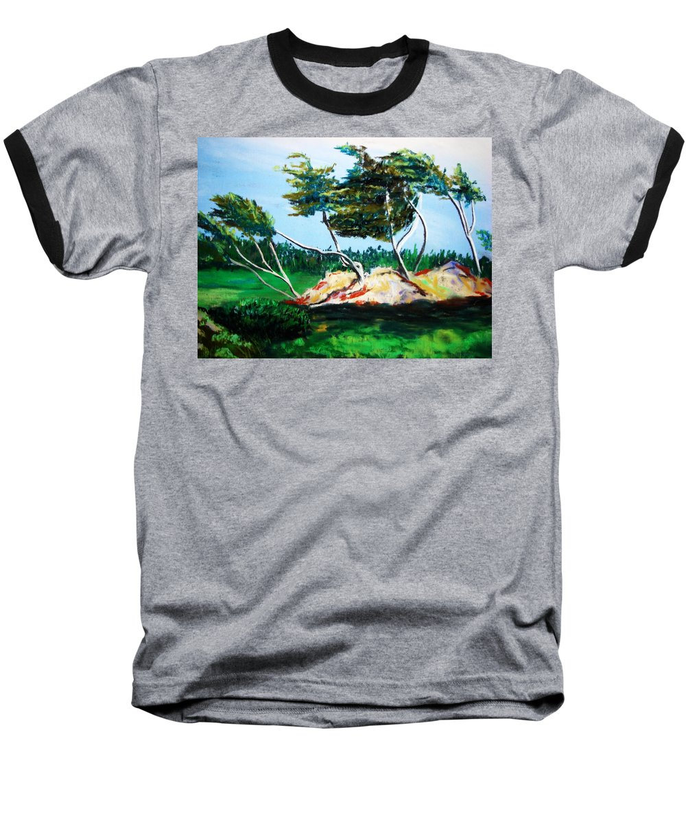 California Baseball T-Shirt featuring the painting Breezy by Melinda Etzold