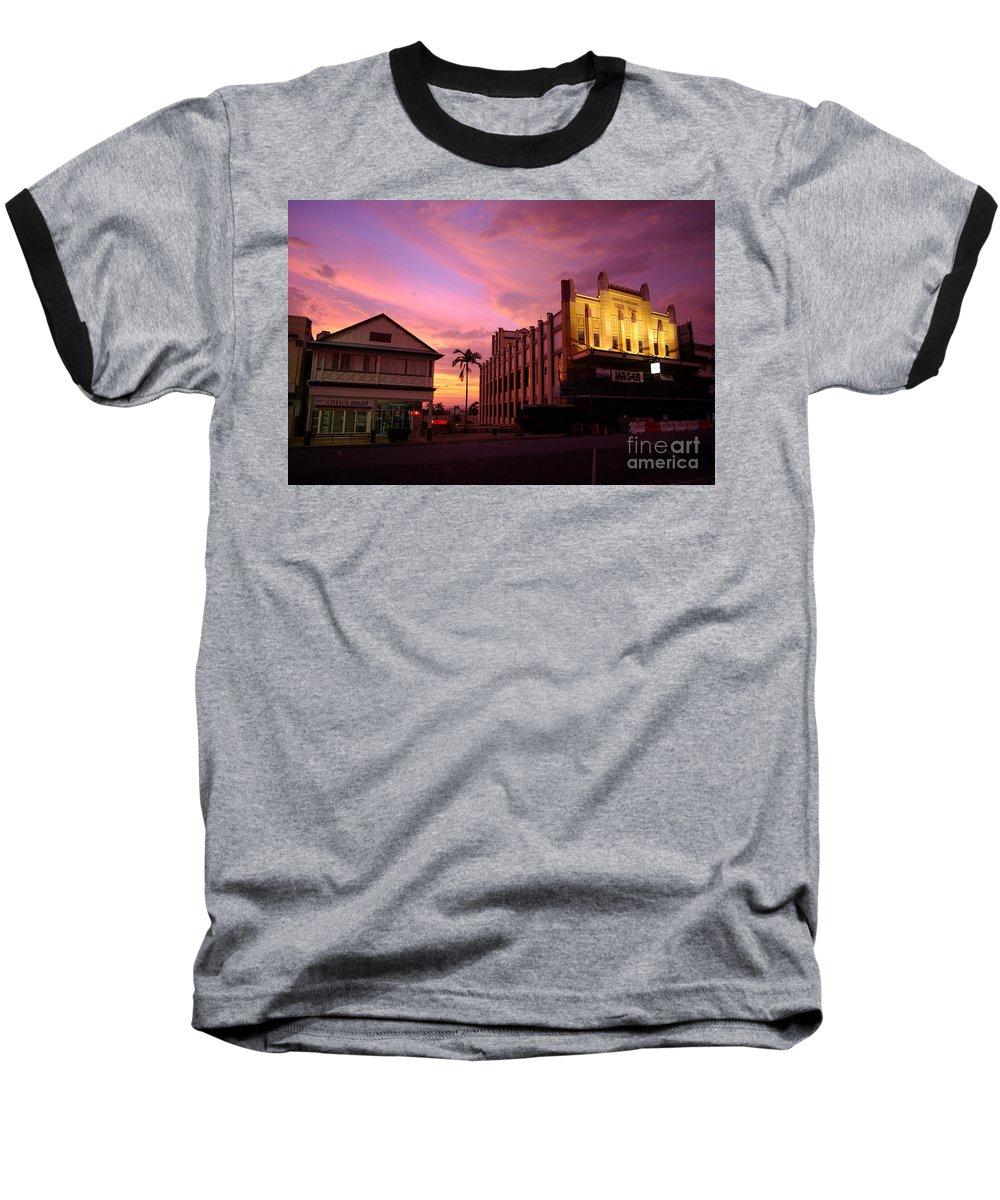Evening Baseball T-Shirt featuring the photograph Brewing Storm by Kerryn Madsen- Pietsch