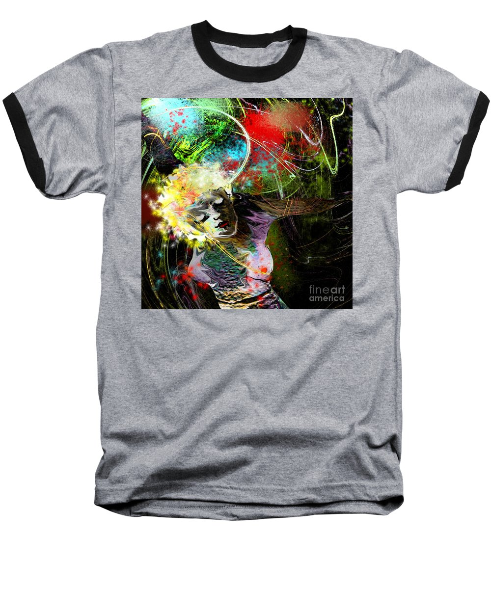 Fantasy Baseball T-Shirt featuring the painting Bride Of Halos by Miki De Goodaboom