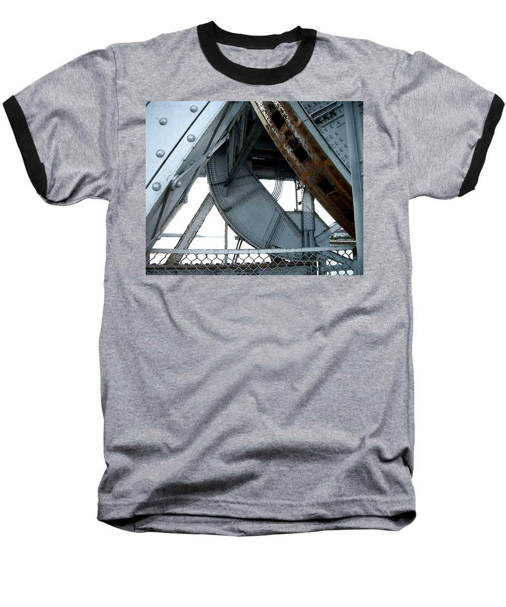 Steel Baseball T-Shirt featuring the photograph Bridge Gears by Tim Nyberg