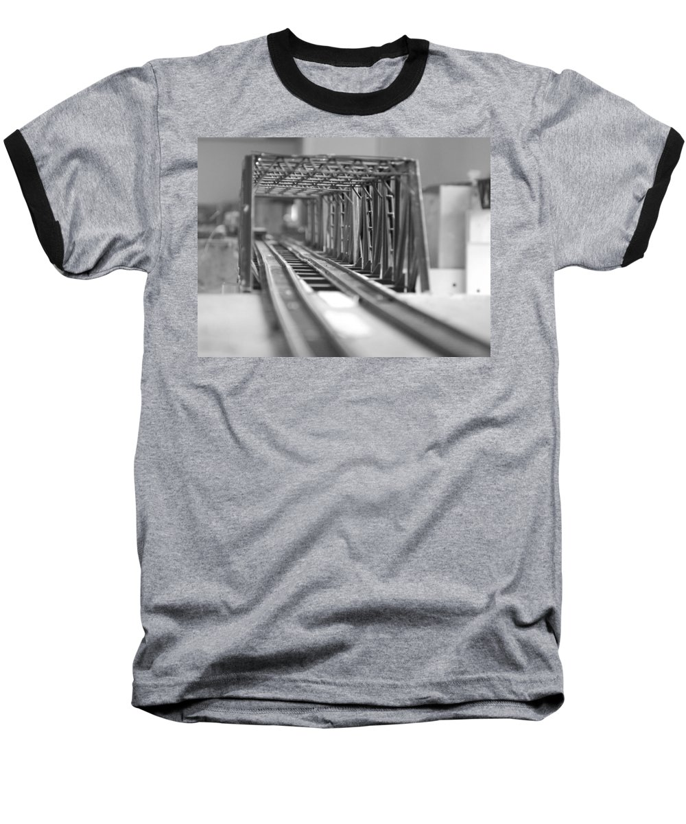 Models Baseball T-Shirt featuring the photograph Bridge To Jerry Town by Margaret Fortunato