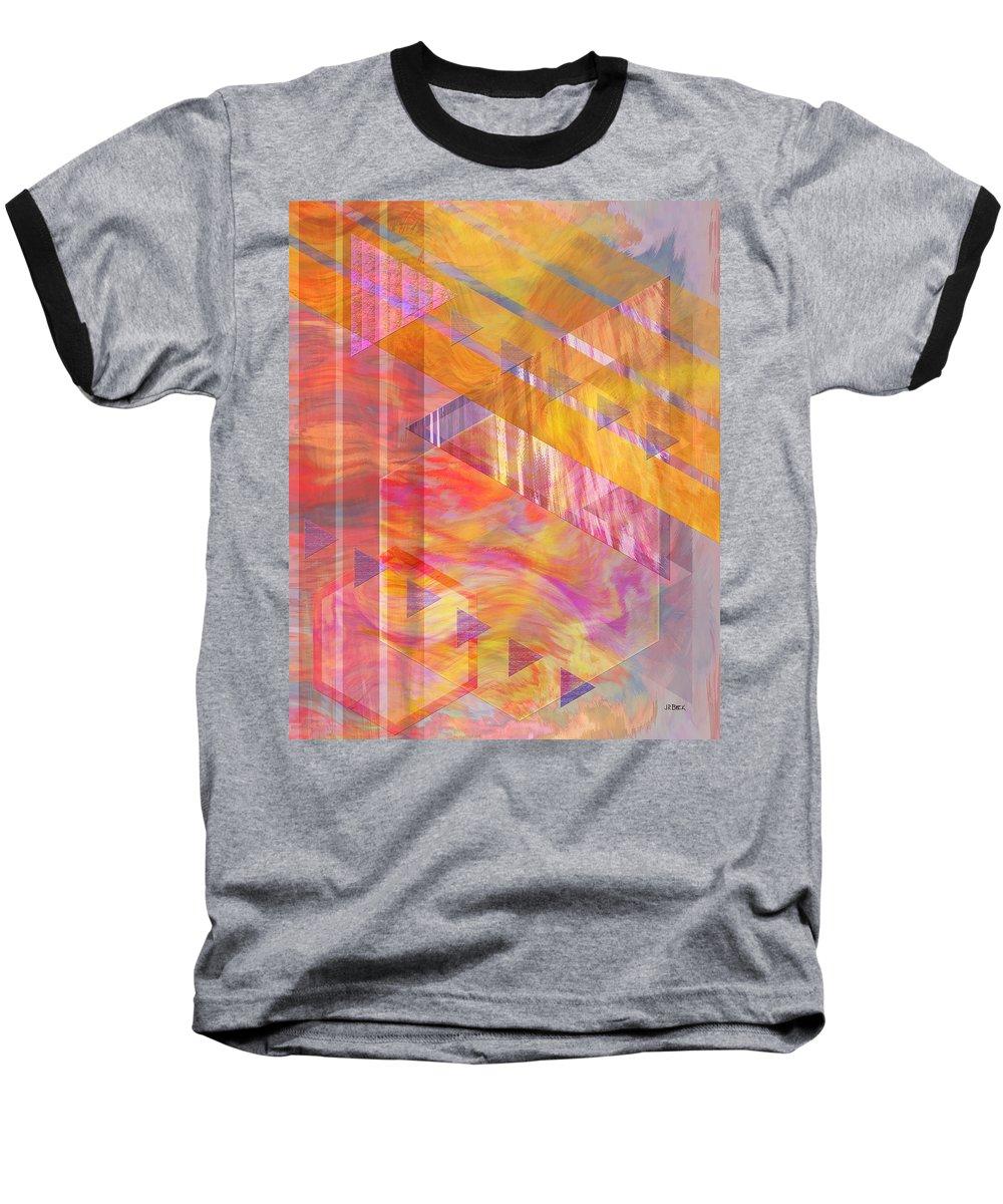 Affordable Art Baseball T-Shirt featuring the digital art Bright Dawn by John Beck