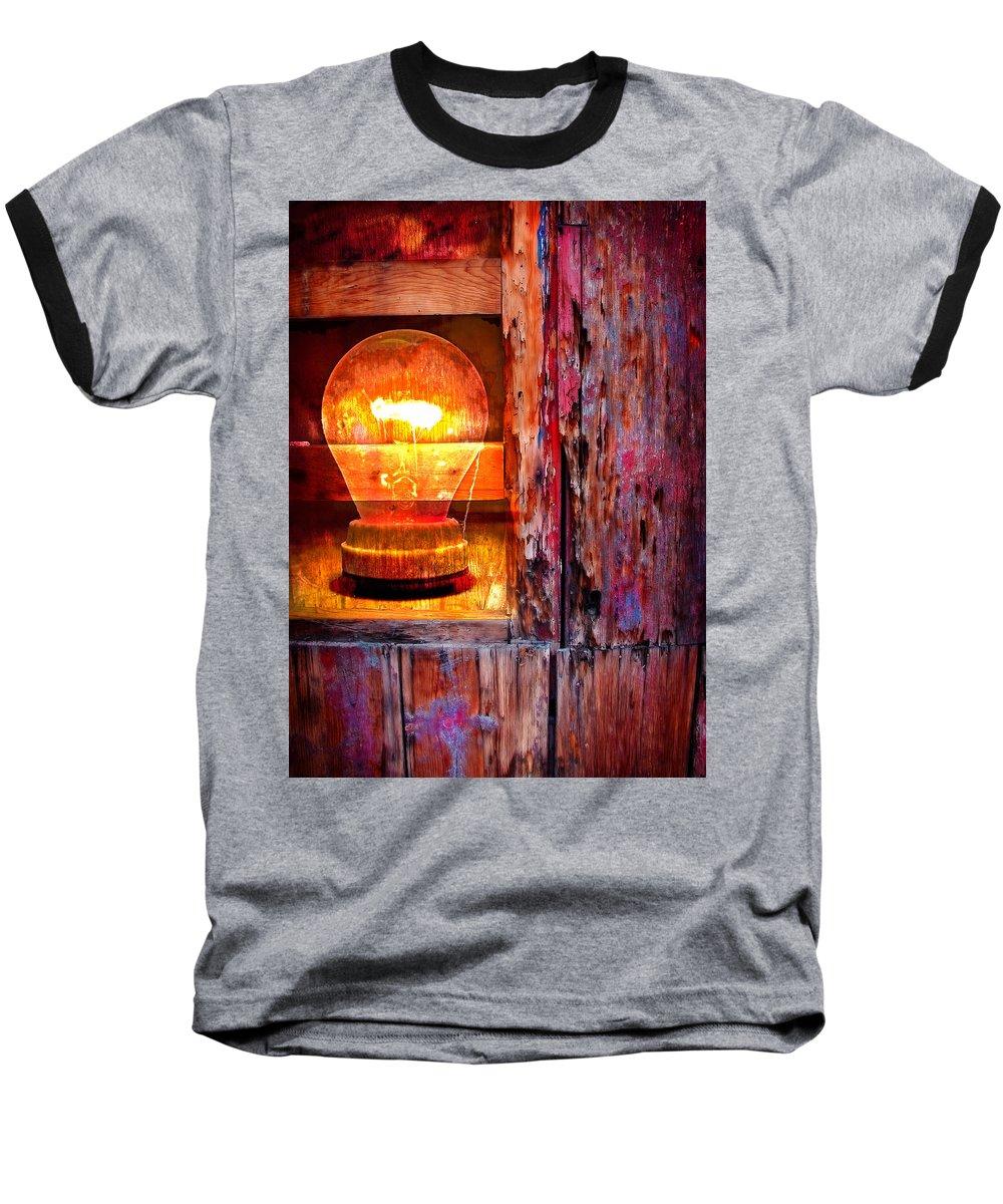 Skip Baseball T-Shirt featuring the photograph Bright Idea by Skip Hunt