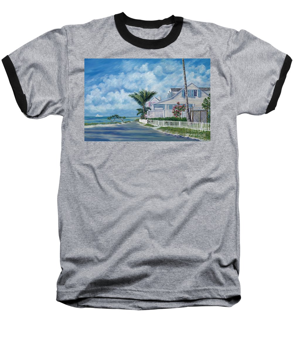 Harbor Island Baseball T-Shirt featuring the painting Briland Breeze by Danielle Perry