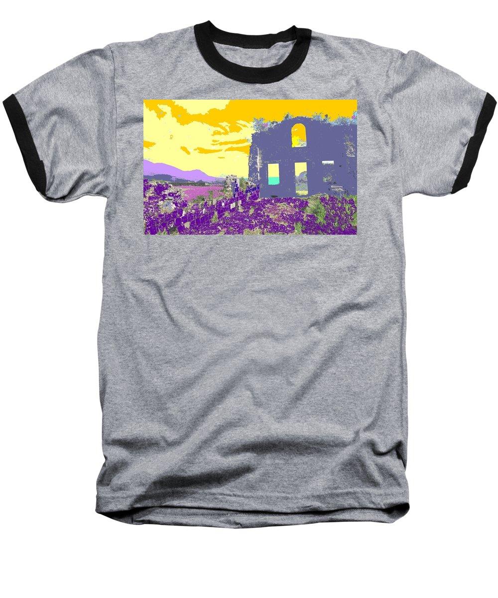 Brimstone Baseball T-Shirt featuring the photograph Brimstone Sunset by Ian MacDonald