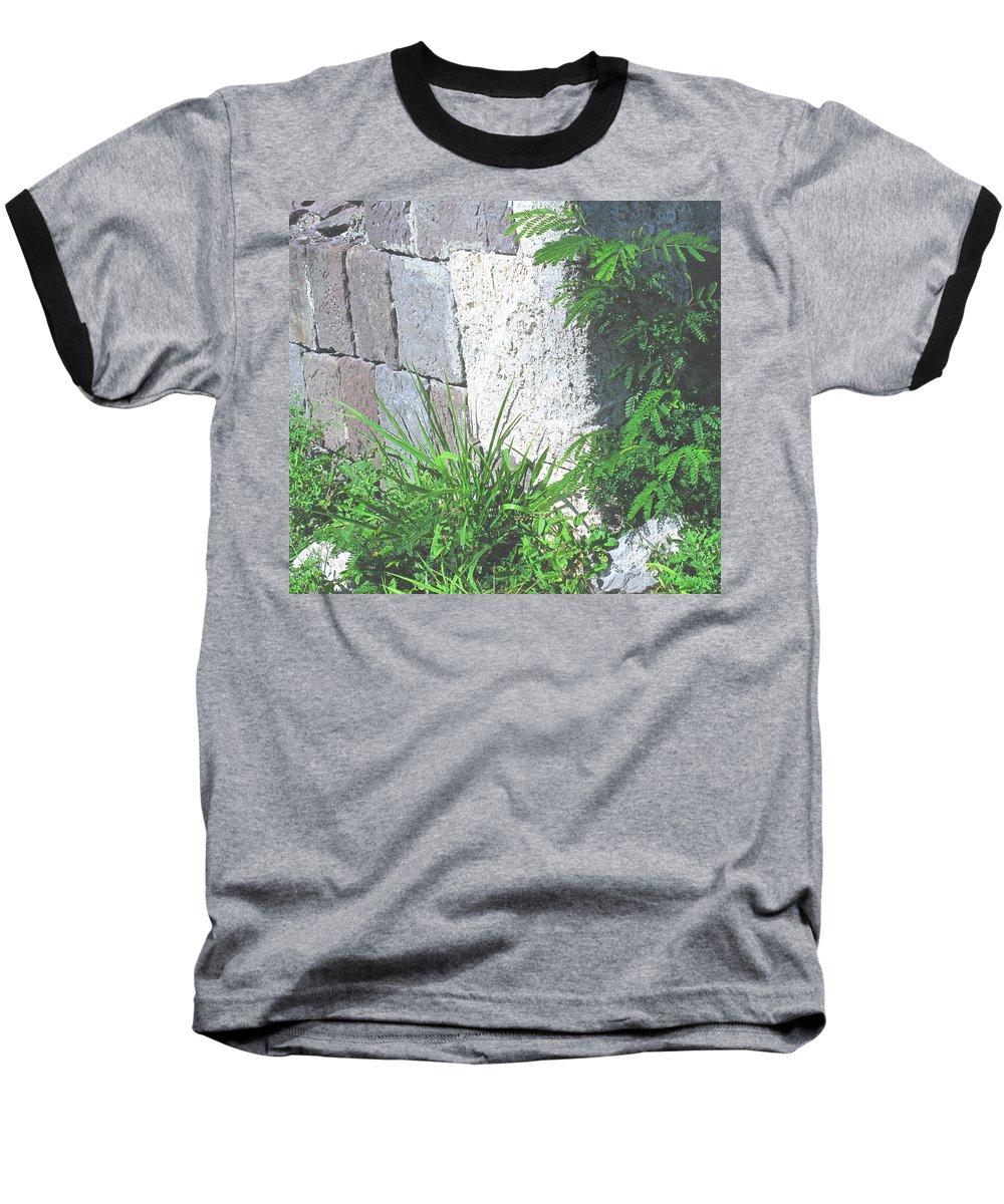 Brimstone Baseball T-Shirt featuring the photograph Brimstone Wall by Ian MacDonald