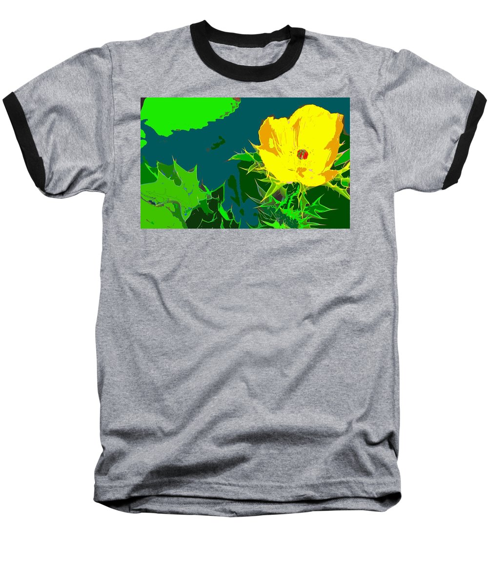 Baseball T-Shirt featuring the photograph Brimstone Yellow by Ian MacDonald