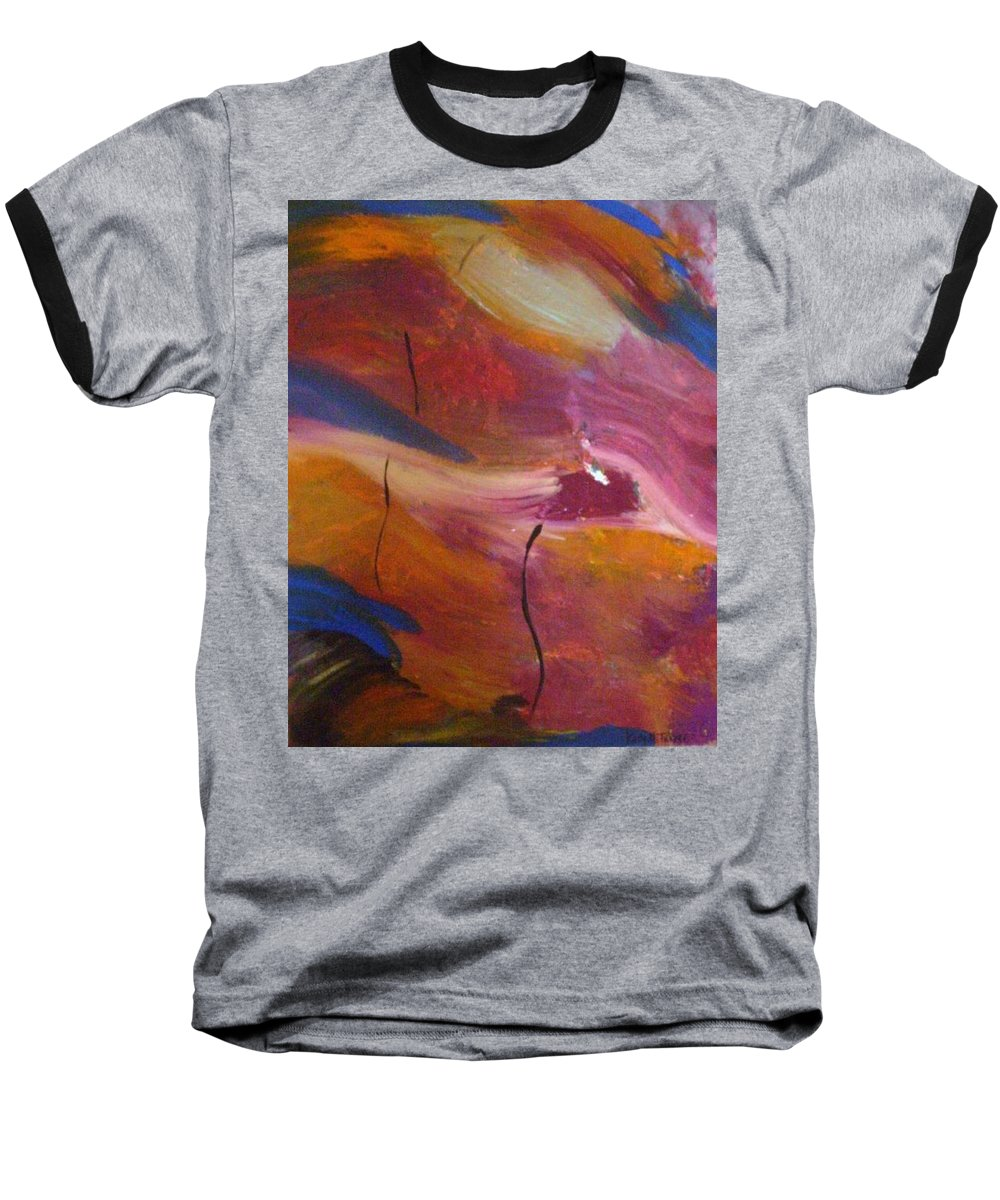 Abstract Art Baseball T-Shirt featuring the painting Broken Heart by Kelly Turner
