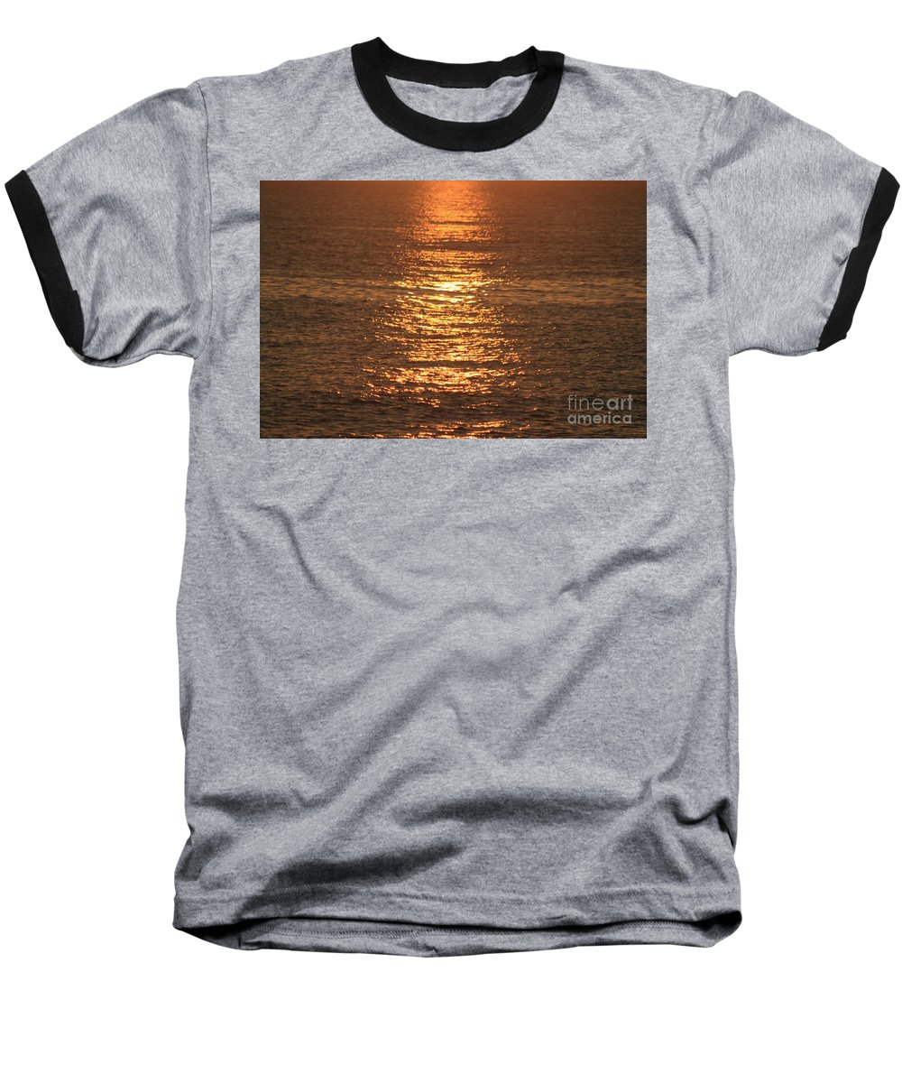 Ocean Baseball T-Shirt featuring the photograph Bronze Reflections by Nadine Rippelmeyer