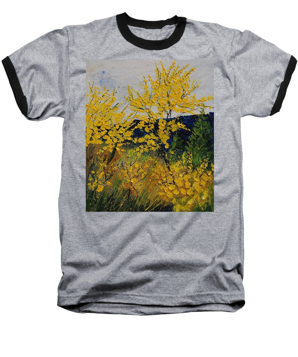 Flowers Baseball T-Shirt featuring the painting Brooms by Pol Ledent