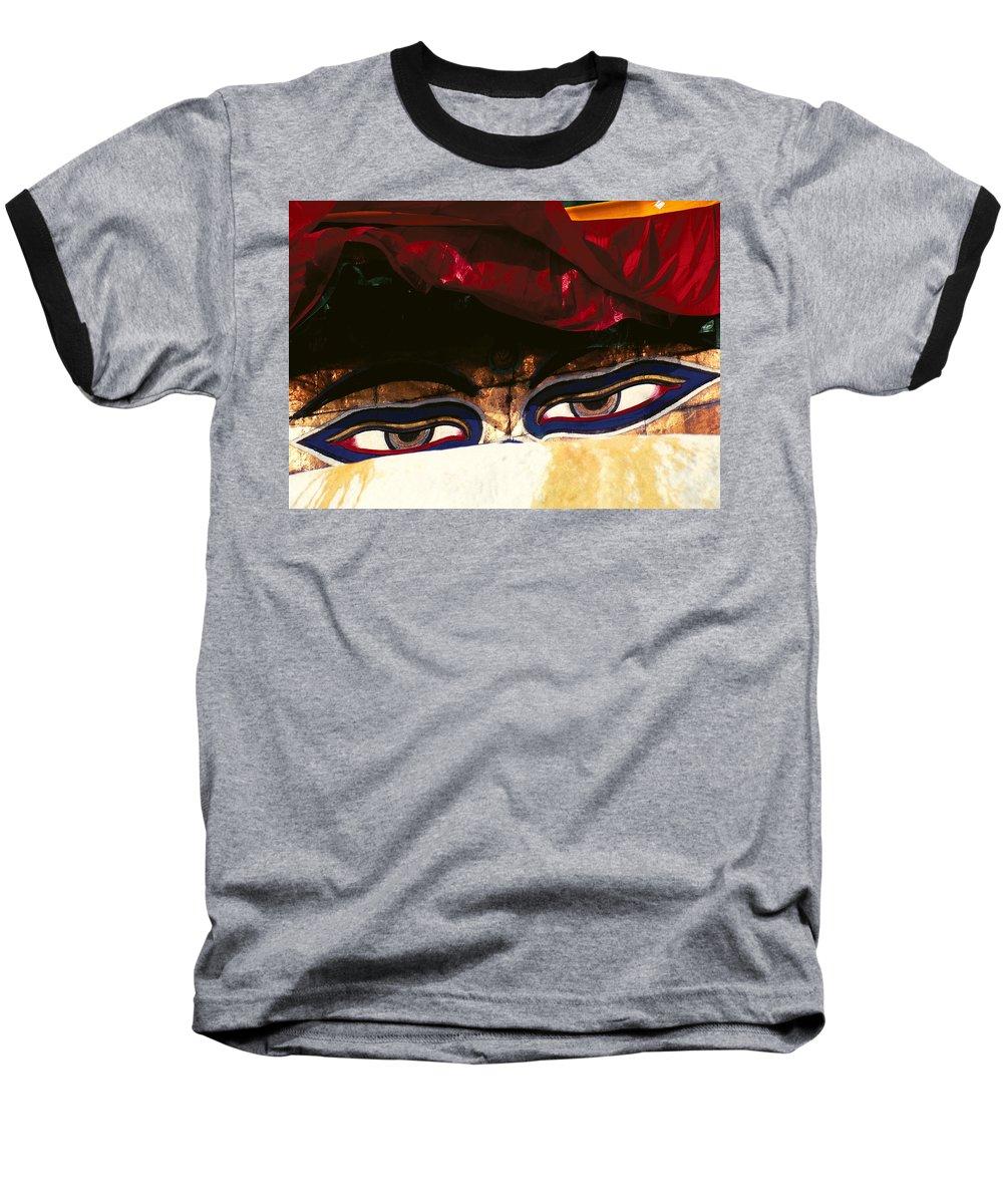 Eyes Baseball T-Shirt featuring the photograph Buddha Eyes by Patrick Klauss
