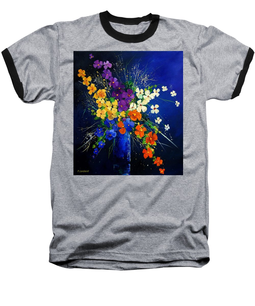 Poppies Baseball T-Shirt featuring the print Bunch 0408 by Pol Ledent