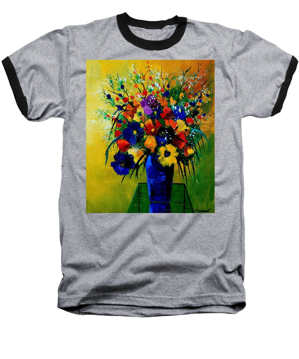 Poppies Baseball T-Shirt featuring the painting Bunch 0508 by Pol Ledent