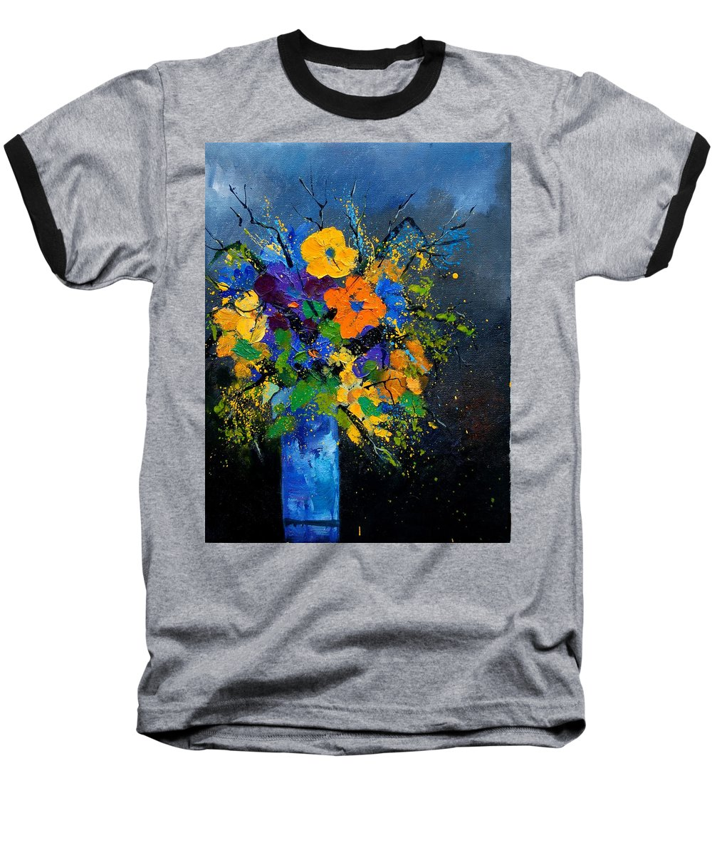 Poppies Baseball T-Shirt featuring the painting Bunch 1007 by Pol Ledent
