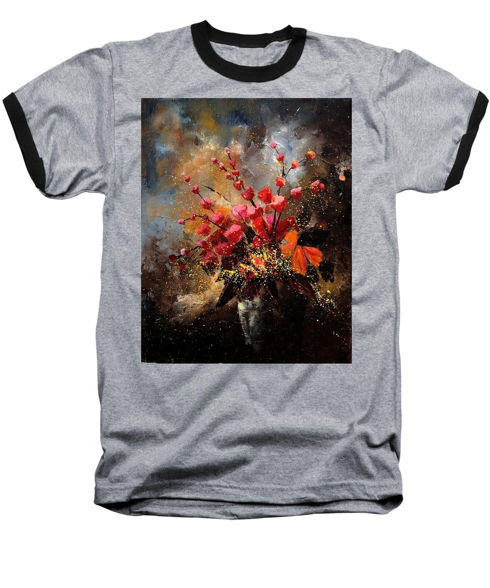 Poppies Baseball T-Shirt featuring the painting Bunch 1207 by Pol Ledent