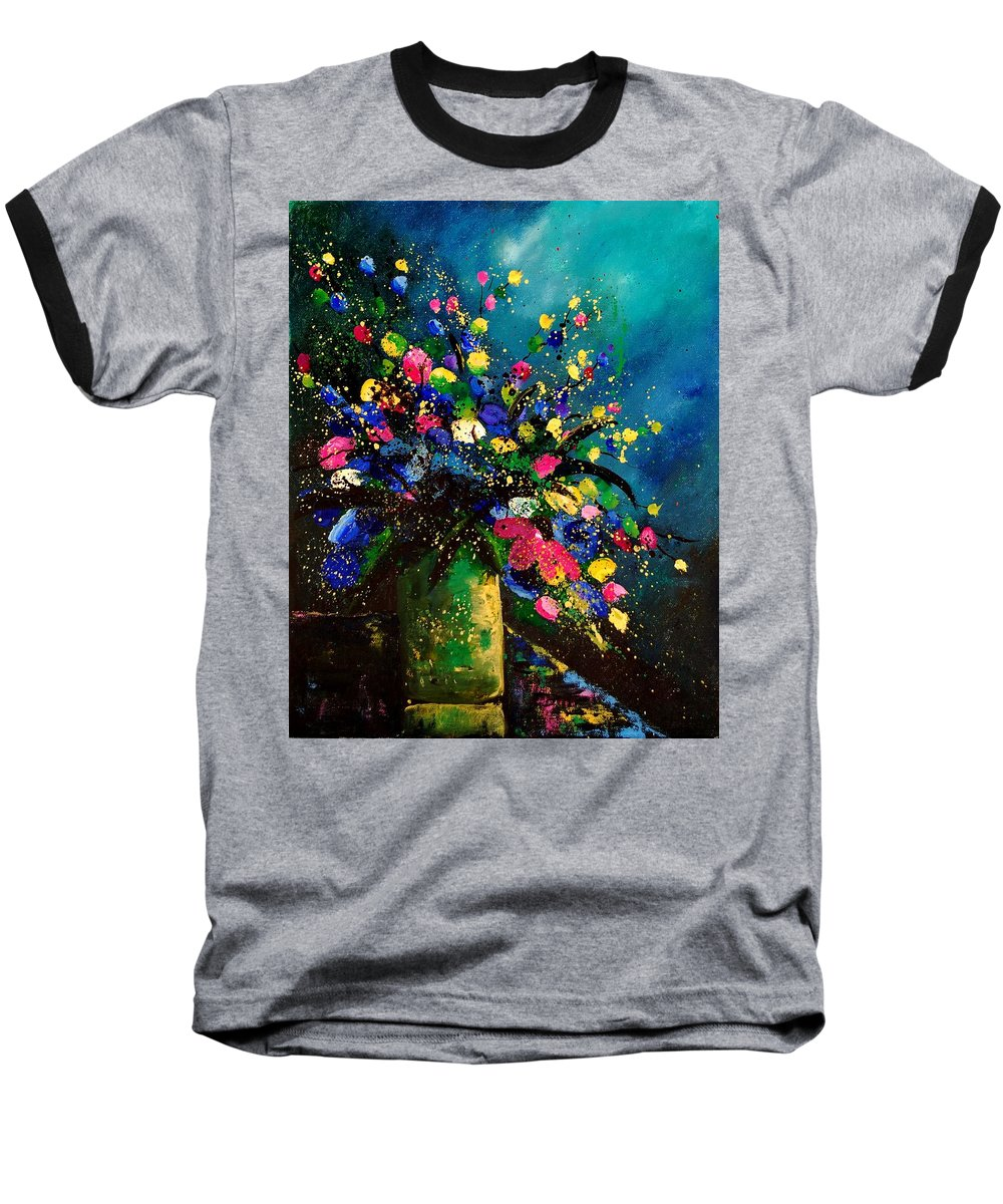 Poppies Baseball T-Shirt featuring the painting Bunch 45 by Pol Ledent